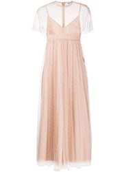 Red Valentino Tulle Long Dress 60