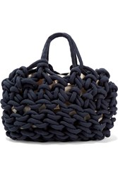 Alienina Woven Cotton Tote Navy