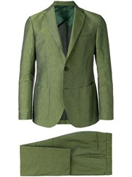 Doppiaa Classic Single Breasted Suit Green