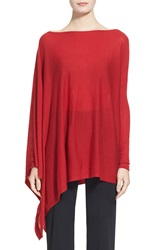 Donna Karan Collection Featherweight Cashmere Poncho Top Lacquer