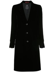 Loveless Fitted Button Detail Coat Rayon Black