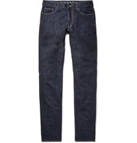 Canali Slim Fit Stretch Denim Jeans Navy