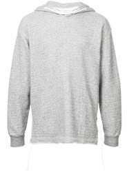 Homecore Long Sleeve Fitted Hoodie Grey