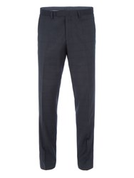 Baumler Men's Arnulf Slim Fit Checked Suit Trouser Charcoal