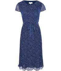 Cc Spot Print Tea Dress Mid Blue