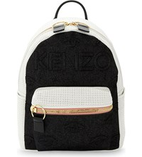 Kenzo Neoprene And Leather Backpack White Black
