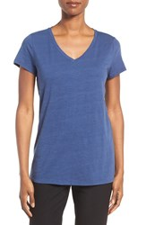 Eileen Fisher Women's Organic Cotton V Neck Tee Denim