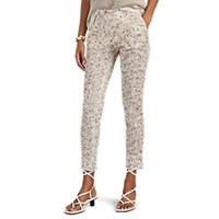 Missoni Open Knit Cotton Slim Crop Pants Neutral