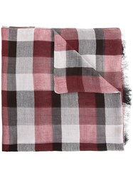 Cerruti 1881 Checked Scarf Red