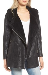 Blank Nyc Women's Blanknyc No Pain Faux Leather Jacket With Faux Fur Lining