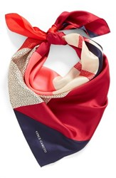 Vince Camuto Women's Spots And Stripes Silk Square Scarf