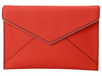 Rebecca Minkoff Leo Clutch Poppy Red Clutch Handbags