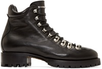 Dsquared Black Leather Hiking Boots