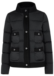 Moncler Niami Quilted Shell And Felt Jacket Black