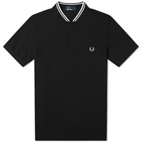Fred Perry Authentic Bomber Collar Polo Black