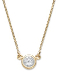 Macy's Bezel Set Diamond Pendant Necklace In 14K Gold 1 5 Ct. T.W.