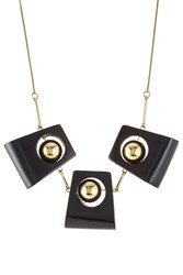 Marni Statement Necklace With Wood Black