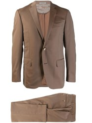 Corneliani Satin Finish Two Piece Suit Neutrals