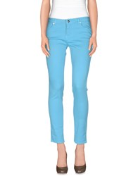 Good Mood Trousers Casual Trousers Women Azure