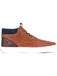 Timberland Lace Up Hi Top Sneakers Brown