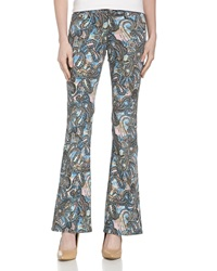 Rebecca Minkoff Skinny Bootcut Paisley Jeans Multicolor