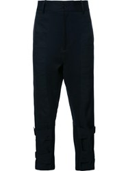 Ann Demeulemeester Ankle Strap Trousers Black