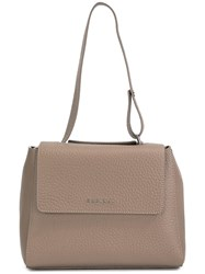 Orciani Small Top Handle Tote Grey