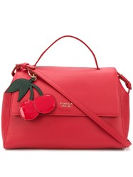 Tosca Blu Hanging Cherry Tag Tote Red
