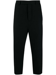Rick Owens Astaires Cropped Trousers Black