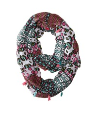 Steve Madden Exotic Graphic Infinity Scarf Pink Scarves