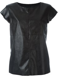 Maison Martin Margiela Mm6 Fake Leather Top Black
