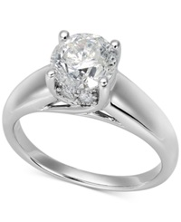 Macy's Certified Diamond Solitaire Engagement Ring In 14K White Gold 1 1 2 Ct. T.W.