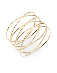 Design Lab Lord And Taylor Goldtone Wire Bangle