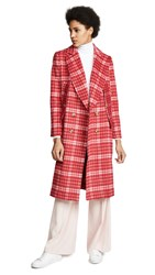 C Meo Collective Magnets Coat Cherry Check