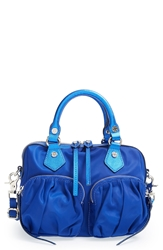 M Z Wallace 'Janie' Nylon And Leather Mini Satchel Royal Blue