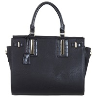 Miss Selfridge Croc Insert Tote Bag Black