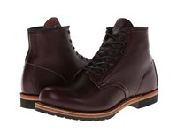 Red Wing Shoes Heritage Beckman 6 Round Toe Black Cherry Featherstone Lace Up Boots