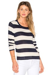 Splendid Cliffside Rugby Stripe Pullover Blue