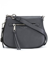 Marc Jacobs 'Recruit' Saddle Crossbody Bag Grey