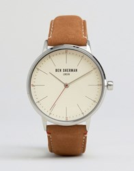 Ben Sherman Tan Leather Watch Tan