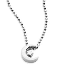 Alex Woo Little Faith Sterling Silver Crescent Moon Necklace