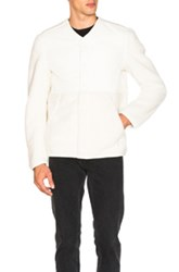 Adidas By Wings Horns Faux Shearling Jacket In White