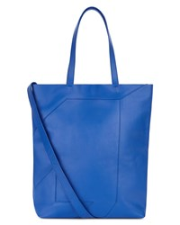 Jaeger Lusted Leather Tote Blue