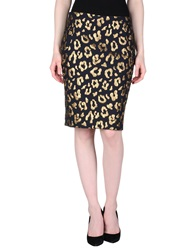 Essentiel Knee Length Skirts Gold