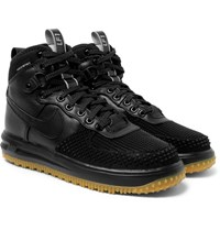 Nike Lunar Force 1 Duckboot Leather And Rubber Sneakers Black