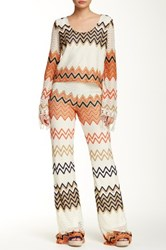 Romeo And Juliet Couture Zig Zag Wide Leg Pant White