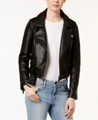 Joe's Jeans Faux Leather Moto Jacket Black