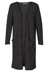 Soaked In Luxury Wool Mix Long Cardigan Black