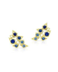 Ron Hami Sapphire Climber Earrings In 14K Gold