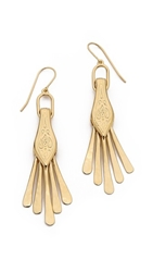 Aurelie Bidermann Tribal Fringe Earrings Gold
